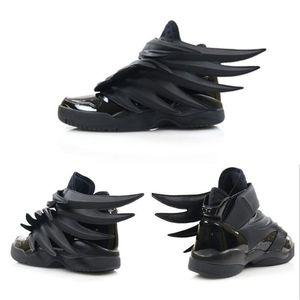 2019 Luxury Designer Jeremy x Original Wings 3.0 Triple Black Sneakers Women Mens Fashion Casual Shoes Vintage Personality Boy Girl Shoes