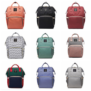 Nursing Bag Mummy Maternity Nappy Brand Large Capacity Baby Bag Travel Backpack Designer fashion diaper bags 17 styles