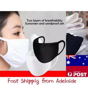 Máscaras anti-polvo de algodón máscara de la máscara facial Boca Unisex Hombre Mujer Ciclismo Negro que desgasta blanca de moda de alta calidad