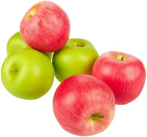Artificial Apples Fake Apples 3.1 x 2.7 inches Plastic Apples for Home House Kitchen Wedding Party Decoration Photography(Set of 6)