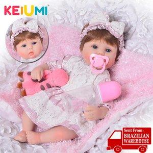 KEIUMI Симпатичные Силиконовые Rebron Детские куклы Новорожденный 17 дюймов Реалистичная принцесса 43 см Дети Подружки Детские Reborn Мода DIY Игрушки Y191213