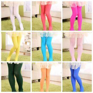 Girl Velor Abbigliamento Bambino Designer Leggings Ballet Dance Pantyhose Candy Colors Collant Skinny Casual Pants Calze Pantaloni moda Ypp5395