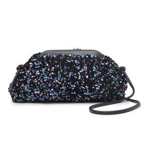 Fashion Cloud Sequin Bags Bead for Party Clip Handbag Luxury Design Shoulder Messenger Bag Clutch Evening Bag