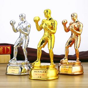무료 맞춤 고급 수지 챔피언스 리그 트로피 컵 금 도금 권투 무술 기념품 기념 선물 파이팅