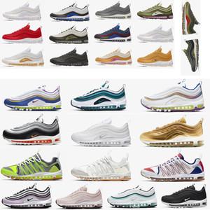 2020 Liberar para hombre Travis Scottairmaxairevapormaxmax 97 97s reaccionan los zapatos Negro zapatos corrientes de las zapatillas de deporte para deportes de las mujeres