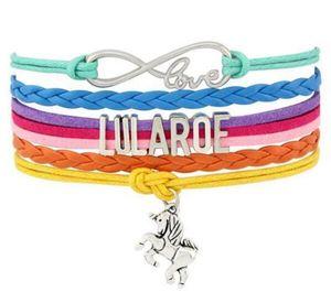 Charme Cavalo Pulseira Carta Infinito Amor Lularoe Enrole Bracelet Wrist Band Weave Multilayer Amizade livre Jóias