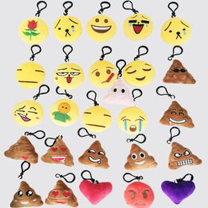 Mini Emoji Anahtarlık Güzel Emoji Peluş Yastıklar İfade Anahtarlık Yumuşak Parti Çanta Dolgu Oyuncak Hediye Çocuklar için