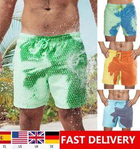 1days Nave 2020 di nuova estate di colore cambia Beach Shorts Mens Pantaloni Trunks caldo colore sbiadimento Shorts Nuoto Surf