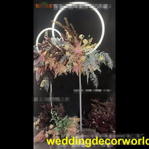 nuovo palco illuminante roll up artificiale di seta rosa fiore da sposa pannello fondale per la decorazione decor0964