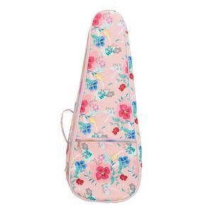 Ukulele Leather Bag Backpack Adjustable Belt Carry Case Ukulele Bag