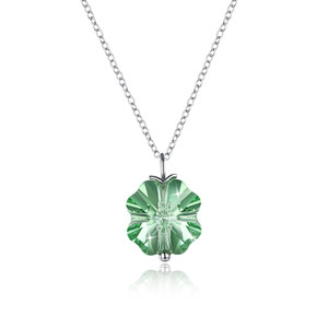 Dried Leaves Lucky Real 4-Leaf Clover Simulated Resin Pendant Necklace