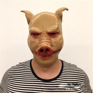 Kreative Halloween-Maskerade-Masken-Schwein Latex Vollgesichtsmaske Spoof Terror Props Kopfbedeckung Zubehör Unisex Hot Sale