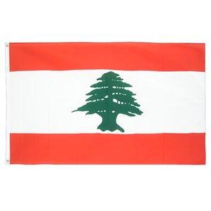 Libano bandiera 90x150cm poliestere di alta qualità stampato libanese Bandiera 3x5ft Volante appendere bandiere di paesi nazionali del Libano