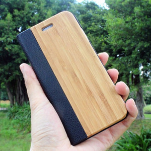 Bamboo Natural Wood Case For iPhone se 2020 11 11 Pro Max XR X XS Max 6 6S 7 8 Plus PU Leather Flip Case Coque Pouch Wooden Slim Case Cover