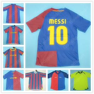 QUENTE RETRO 96 97 98 99 00 05 07 08 09 10 11 de futebol Messi camisola XAVI PIQUE camisas de futebol RONALDINHO HENRY Um INIESTA ETO'O RONALDO QUENTE