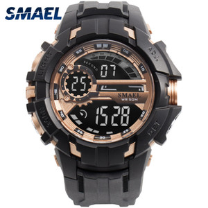 Digital Watch Men Sport Watches Waterproof SMAEL Relogio Montre Shock Black Gold Big Clock Men Automatic 1610 Men Wtach Military