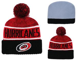 Carolina Hurricanes Hockey su ghiaccio Berretti a maglia Ricamo regolabile Cappello ricamato Snapback Caps Rosso Bianco Nero cucito Cappelli One Size