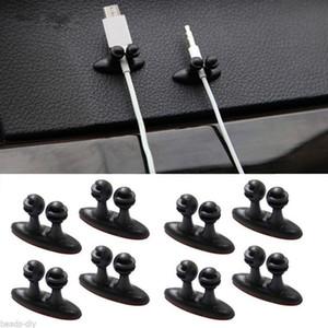 8PCS / set Mini Adhesive Car Charger Linha Fecho da braçadeira Headphone / USB Teleférico Clipe Automobile Acessórios Interior