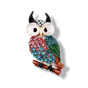Morkopela Owl Bird Brooch Colorful Enamel Pins For Women Vintage Banquet Clothes Brooches Jewelry Scarf Sweater Clip