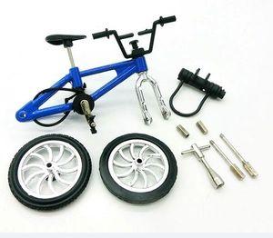 Aleación de mini motos Finger Modelo Juguetes Diecast Modelo de bicicletas Modelo Juguetes Mini dedo de bicicletas para los niños Juguetes de Navidad decoración de piezas de coches