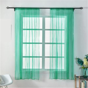 100*150cm Multicolor Mesh Curtain Screening Wedding Party Supplies Bedroom Bay Window Curtain Treatments Home Textiles for Hotel Office H218