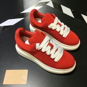 Balck deri Kanye West yarışçı erkek yürüme rahat ayakkabılar parti elbise gs18102307 örgü kırmızı yarışçı Sıcak Satış-Lüks tenis ayakkabıları