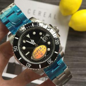 master Tasarımcı Orologio di Lusso Mens Otomatik İzle Yeşil Saatler 116610LV Orologio Saatı Orologi da Uomo