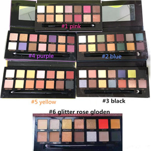 Stocking !! Makeup Palette 14colors Modern eyeshadow Palette 6styles Limited ظلال العيون لوحة مع فرشاة بواسطة Epacket