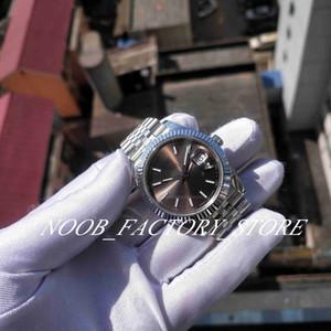Super Factory V2 Versão 126334 Nova Jubileu Pulseira Sapphire Glass Cinza Disque 41mm BP 2813 Movimento Automático Mergulho Homens Relógios