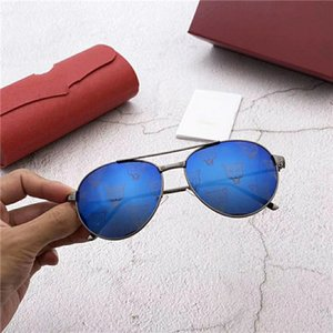 Popular men Sunglasses Luxury Women Designer round Summer Style Full Frame Top Quality UV Protection Mixed Color Come With Box