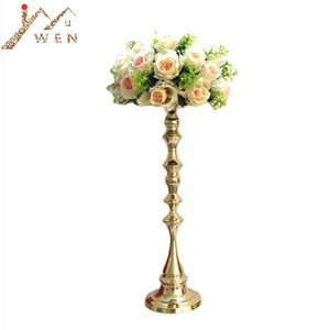 53 cm Tall Gold Candle Holder Candle Stand Wedding Table Centerpiece Event Road Lead Flower Rack 10 pcs   lot