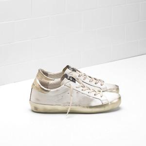 oie d'or DB 2020 New Old Style Chaussures de sport en cuir véritable Derme Chaussures Casual Hommes Et Chaussures Femmes Superstar formateur A001