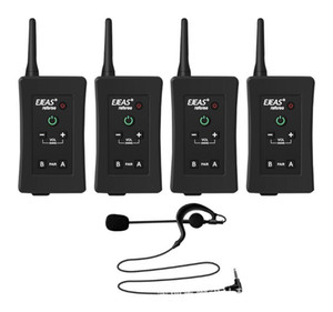 New 4Pcs Latest Football Referee Intercom Headset Vnetphone FBIM 1200M Wireless Full Duplex Bluetooth Interphone with FM 800mah