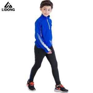 2020 Autumn Winter Kids Running Tracksuits Boys Football Set Long Jacket Skinny Leg Pants Soccer Training Suit Sportwear Kits