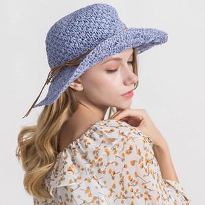 As melhores tiras novas tecidas das mulheres do IMOAA curvam o chapéu de palha da máscara do feriado do beira-mar do chapéu de palha