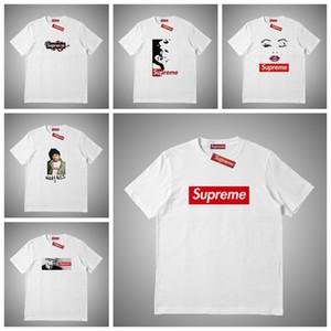 Supreme Uomini Donne maglietta di stampa della lettera T Shirt Mens donne designer T shirt di lusso manica corta Tees il formato S-XXL # 76511