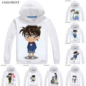Kudou Shinichi Kudo Jimmy Mens 후드 Meitantei Conan Case Closed Detective 남성 운동복 Streetwear Anime 까마귀 인쇄 긴 후드
