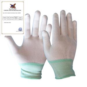 1pair Antistatic Gant Gants électroniques Antistatic sans poussière Section mince Bonneterie Gants de protection Porter des gants