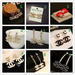 HAUT! Prix de gros! 14K classique Designer Diamond Pearl Boucles d'oreilles Studs Or Argent Dangler Bijoux Accessoires Parti Cadeau B6