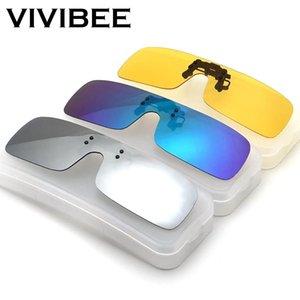 Miyop UZnLg için Polarize Gece Sürüş Gözlük ile Sarı Polarizing Kadınlar Güneş Klipler On Vivibee Siyam Erkekler Kare Klip