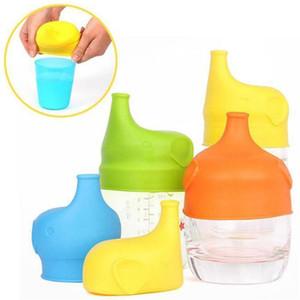 Silikon Sippy Lids Sicherheit für Kinder Sippy Lids dehnbare Leakproof Baby-Trinktrainingswasserflasche Cup Zubehör