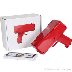 Cash Cannon Money Gun Launcher Decompression Fashion Toy Make It Rain Money Gun Cosplay Prop Red Cool Christmas Gift Toys