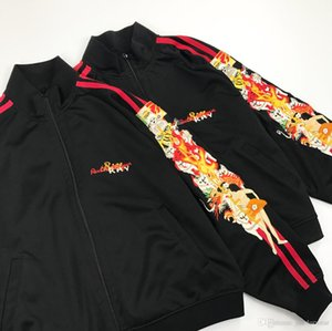 High Street Japan Fashion Brand Chaquetas para hombre Abrigos Mujeres Hombre Bordado Bandera Brazo Diseño a rayas Chaquetas Chaquetas para hombre Sudaderas con capucha