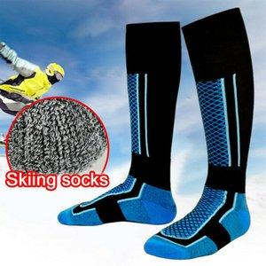 في الهواء الطلق الرجال سميكة من القطن الرياضة الجوارب الحرارية الدافئة شتاء للتزلج طويل المشي لمسافات طويلة سنو الجوارب
