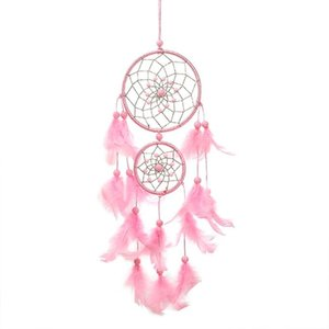Pink Dream Catcher Dream Catcher For Girls Dreamlike Feather Ornament Wind Chimes Hanging Decorations Home Dreamcatcher BMW08