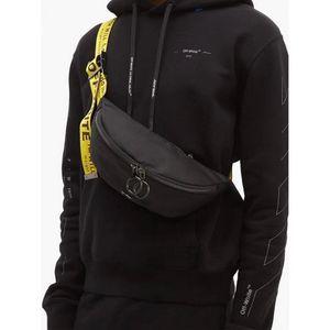 Männer weg von der Schulter-Beutel-Gelb-Band-weißer Männer Brusttasche Anti-Diebstahl-Sling-Pack USB Ladebuchse Satchel Leinwand Umhängetasche