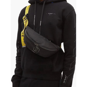 Homens Off Shoulder Bag Yellow Ribbon branco homens Peito Bag Anti-Theft Sling Pacote USB ombro carga Porto Satchel bolsa de lona
