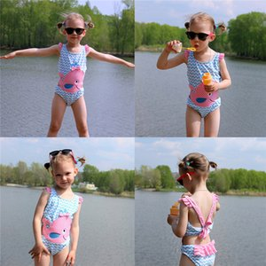 Kids Girls One Piece,super soft Swimwear Animals Dots Printed Bathing Suit.Super soft,suitable for children's sensitive skin.