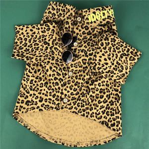 Классический леопардовый узор Pet рубашки весна лето последние дизайнерские Pet футболки открытый уличный стиль шнауцер плюшевый одежда