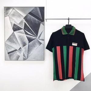 2020 Verão Luxo Nova forma Badge Paris Logo Itália Striped Flag Europa Polo Homens Mulheres Camiseta Casual Cotton Tee Polos